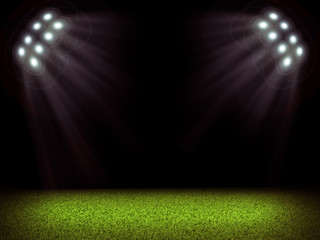 Soccer field and bright lights