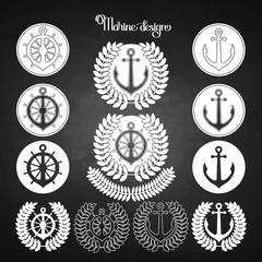 Graphic nautical emblem