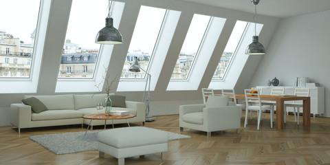 Hochwertig Helle Wohnung Im Dachgeschoß