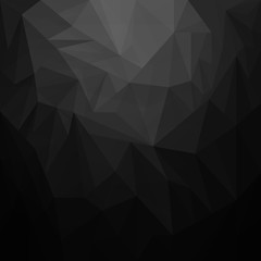 Black background with triangle - Vector