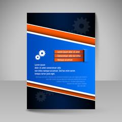 Editable vector template of flyer for business brochure magazine
