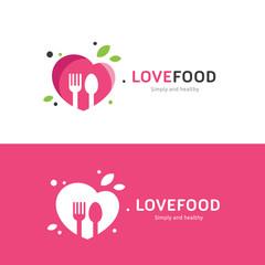 love food logo,restaurant logo,bistro logo,canteen logo,cafe logo,vector logo template