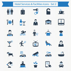 Hotel Services & Facilities Icons - Set 2