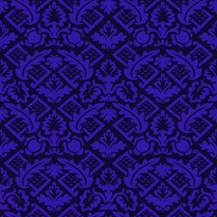 Vector colorful damask seamless floral pattern background