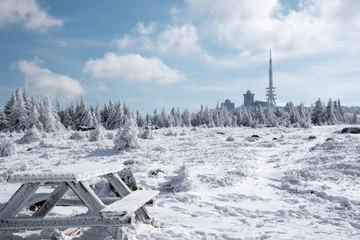 Winter am Brocken, nördlichstes Mittelgebirge Deutschlands