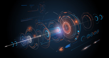 Abstract futuristic design background