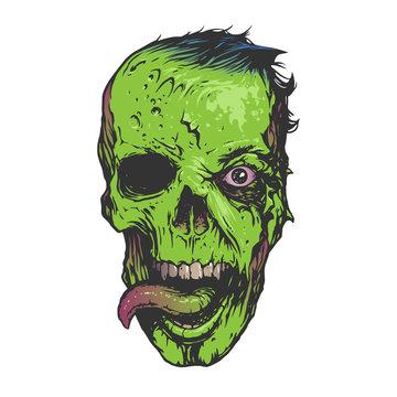 Skull zombie illustration