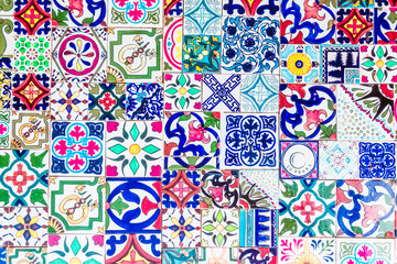 Morocco mosaic tiles textures