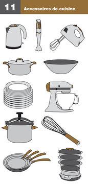 Icônes accessoires de cuisine