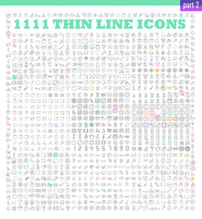 thin line icons exclusive XXL icons set for infographics or mobile UX/UI kit