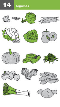 Icône de légumes