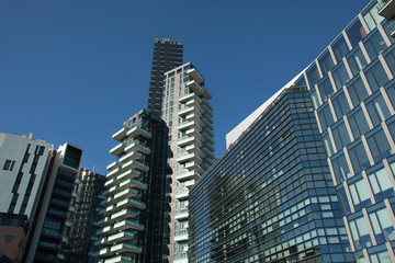 Solaria Tower in the Porta Nuova district in Milan, Italy.
