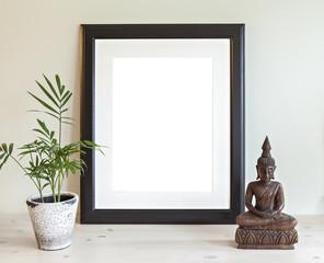 Wooden frame mockup