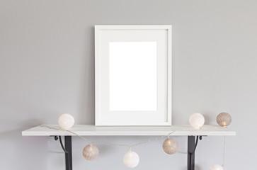 White frame mockup scene