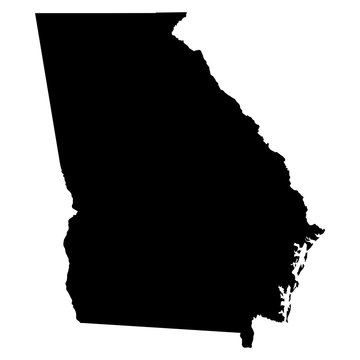 Georgia map on white background vector
