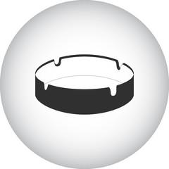 Ashtray simple icon on round background