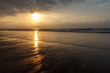 Atardecer en la Playa de Vega, Asturias.
