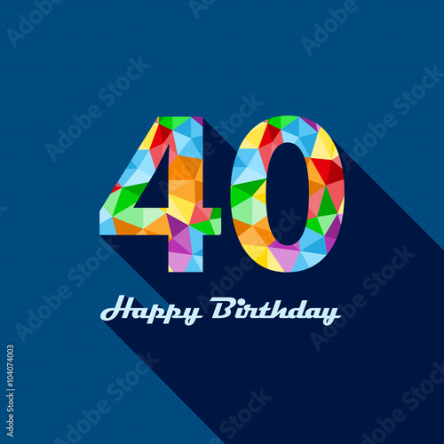 HAPPY 40th BIRTHDAY Card image and royaltyfree vector – Happy 40th Birthday Card