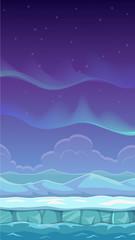 Vector cartoon polar landscape