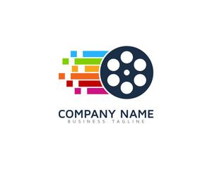Video Reel Logo Design Template