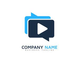 Video Talking Logo Design Template