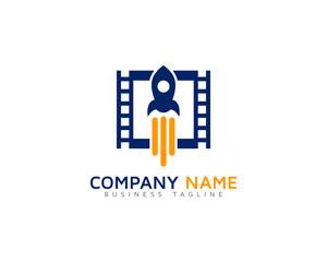 Video Rocket Logo Design Template