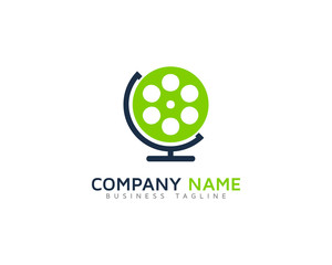Video Globe Logo Design Template