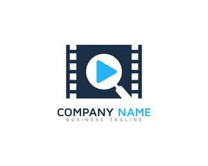 Video Search Logo Design Template