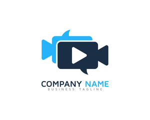 Video Talk Logo Design Template