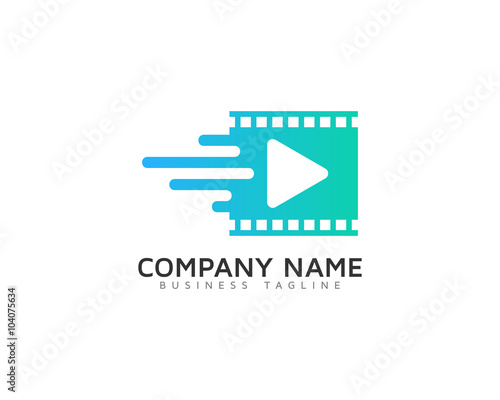 Video Media Motion Logo Design Template Stock Image And Royalty