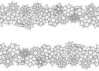 horizontal nahtlose Blüten Bänder