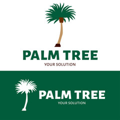 Vector logo palm tree. Brand logo in the shape of a palm tree