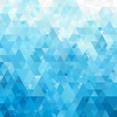 Blue White Light Polygonal Mosaic
