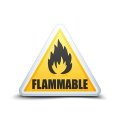 Flammable danger sign
