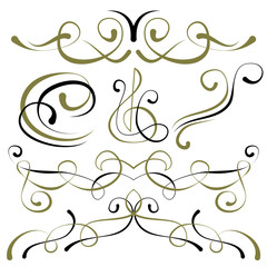 vector set of elements for design. borders