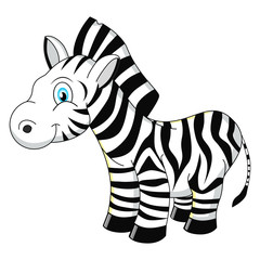 Cartoon zebra vector illustration