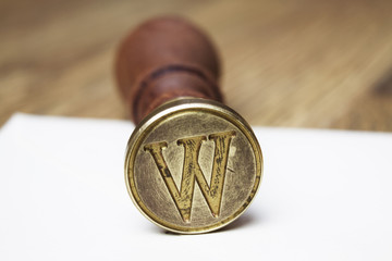 Letter W stamp