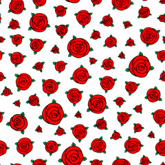 Seamless raster floral pattern