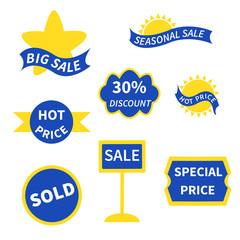 Sale set of labels