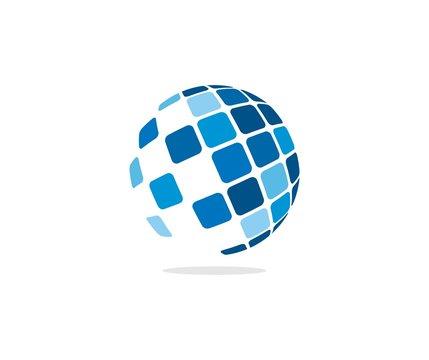 Tech globe logo
