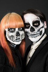Evil day of the dead undead couple