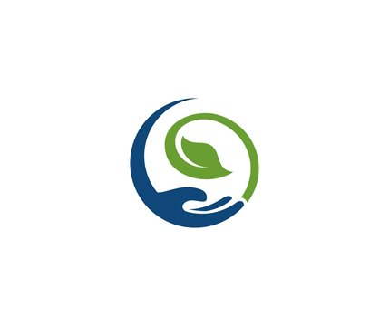Leaf hand logo