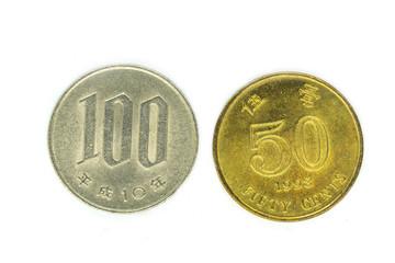 japanese coin yen isolate