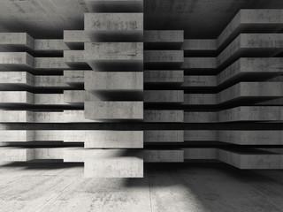 Obraz  Modern concrete 3d architecture background - fototapety do salonu