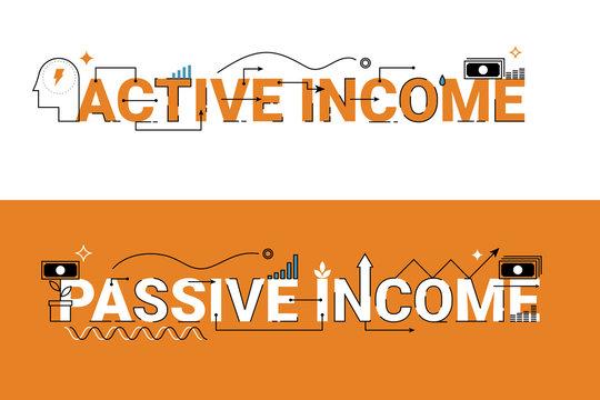 Active and passive income illustration