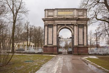 Orlov Gates, 1777-1782, in Catherine's Park,Tsarskoe Selo, Russia.