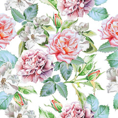 Seamless pattern with flowers.