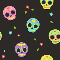 Mexican sugar skull pattern