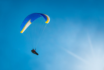 No limits, paragliding above the clouds.