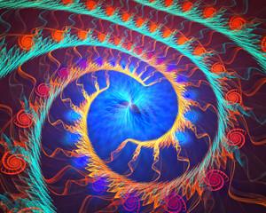 Fractal spiral background